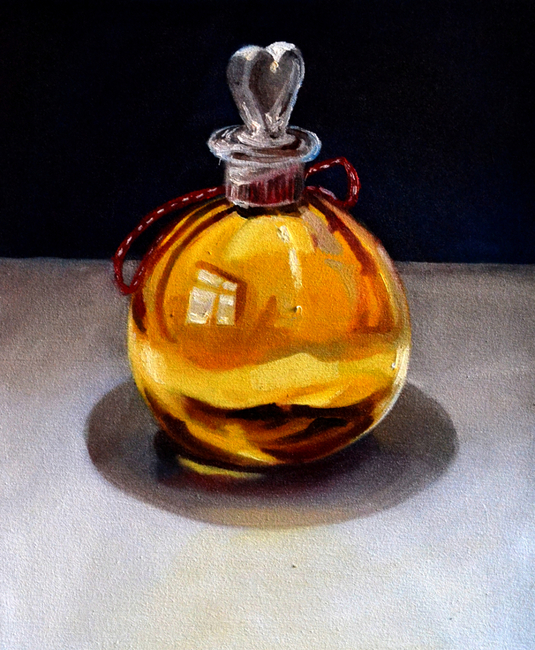 Klára Sedlo : Happiness Potion, oil on canvas, 2018, private collection